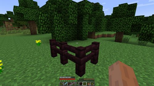 Адский забор minecraft