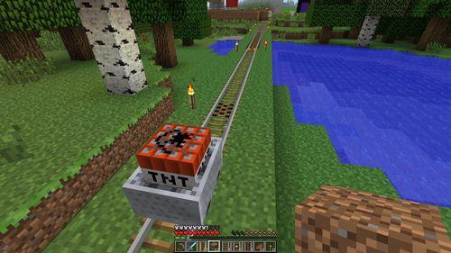 Активирующие рельсы minecraft