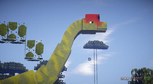 Динозавры - JurassiCraft Мод 1.8 minecraft