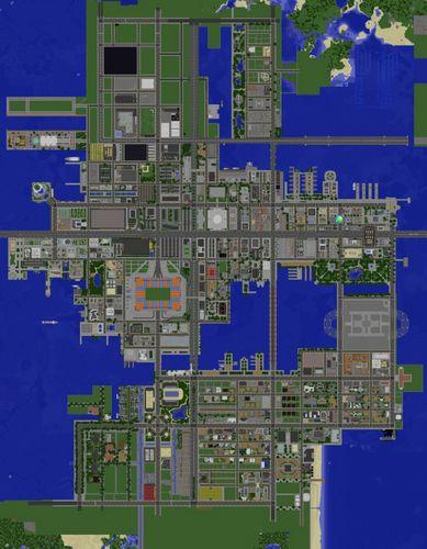 Карта Большой город для minecraft майнкрафт