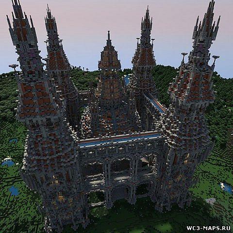 Карта Старый замок для minecraft minecraft