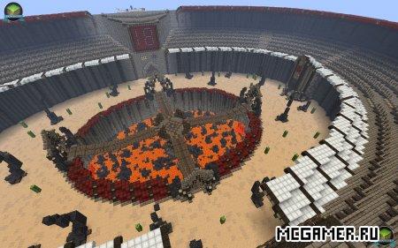 Карта Deathmatch Arena для minecraft minecraft