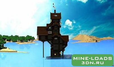 Карта Дом в скале для Minecraft minecraft