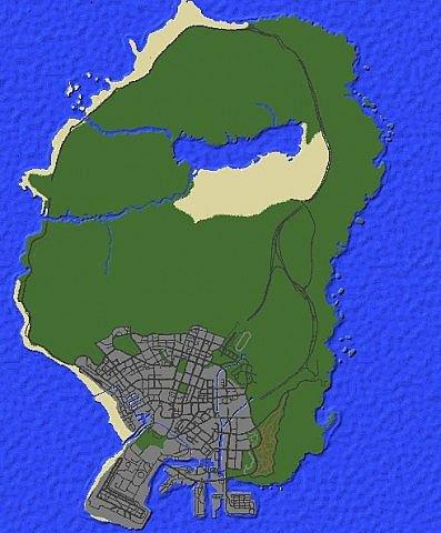 Карта Grand Theft Auto V для Майнкрафт minecraft