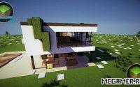 Карта Экологичный и современный дом для Майнкрафт