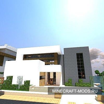 Карта Экологичный и современный дом для Майнкрафт minecraft