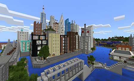 Карта NEW YORK для minecraft minecraft
