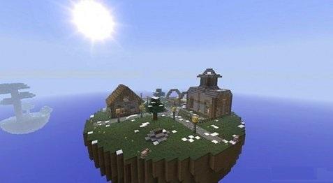Карта Замок на острове для minecraft minecraft