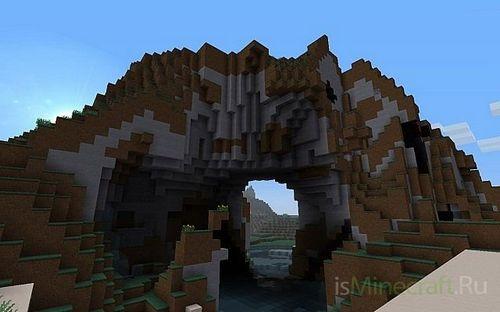 Карта Песчаный замок для minecraft майнкрафт