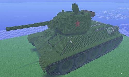 Карта Русский танк т-90 для minecraft 1.5.2 minecraft