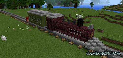 Паровоз на остановке  Карта для Майнкрафт 1.5.2 minecraft