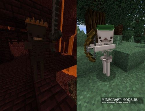 Ресурспак Blocky Mobs [32x] для minecraft 1.8.8 minecraft