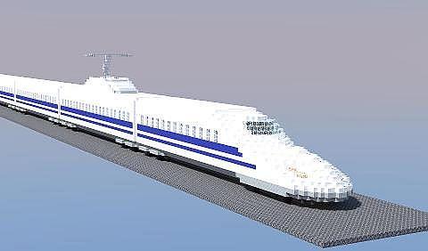Shinkansen Japanese Bullet Trains minecraft