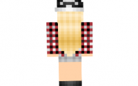 Скин Blonde Plaid girl для minecraft