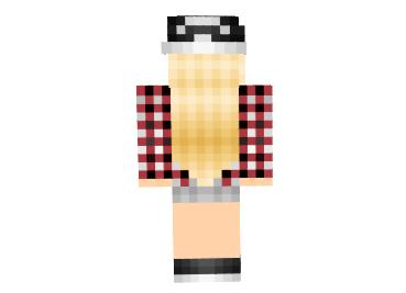 Скин Blonde Plaid girl для minecraft minecraft