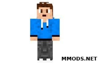Скин Blue Teenager для Minecraft minecraft