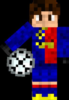 Скин Футболиста Messi для Майнкрафт minecraft
