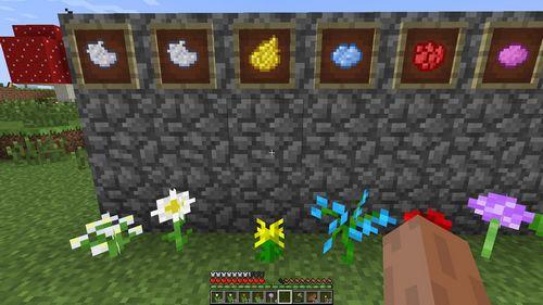 Жёлтый краситель minecraft