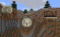 Карта Дом в скале для Minecraft