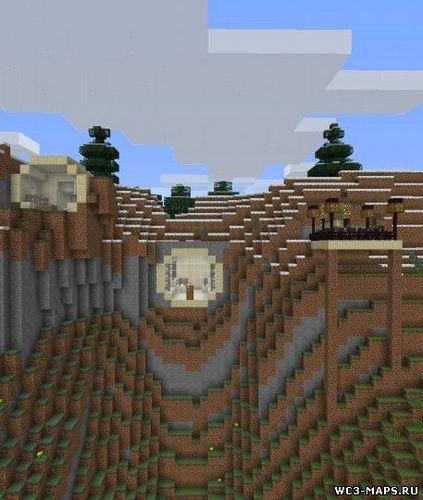 Карта Дом в скале для Minecraft майнкрафт