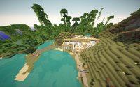 Карта Красивый дом на поляне для Майнкрафт