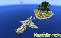 Карта на Выживание Stranded Raft для minecraft