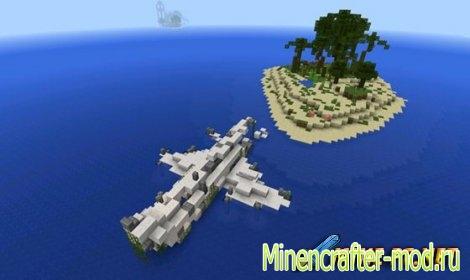 Карта на Выживание Stranded Raft для minecraft minecraft
